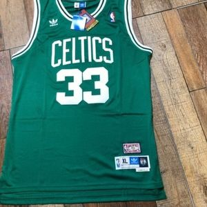 NWT Larry Bird Boston Celtics Adidas NBA Jersey